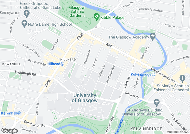 Map for Cecil Street, GLASGOW