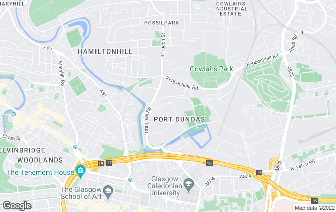 Map for TAY LETTING, Glasgow