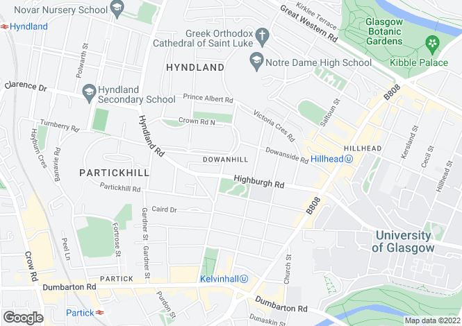 Map for 5 Crown Road South, Dowanhill, G12 9DJ