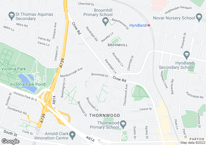 Map for Broomhill Drive,