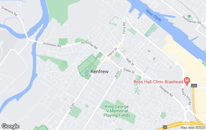 Map for McCartney Stewart Ltd, Renfrew