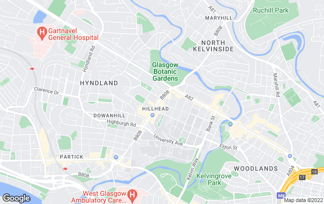 Map for G & S Properties, Glasgow