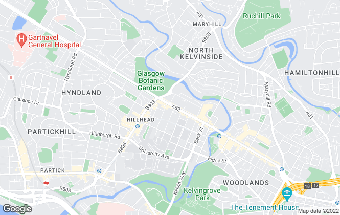 Map for Grant Property, Glasgow
