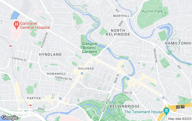 Map for Vanilla Square, Glasgow