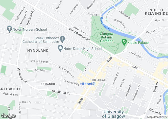 Map for 26 Athole Lane, Glasgow, G12 9AN