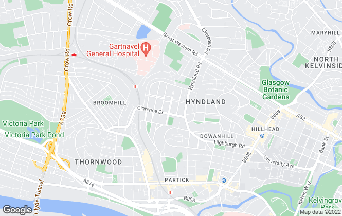Map for Ivy Property, Glasgow