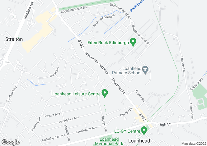 Map for Hawthorn Gardens, Loanhead, EH20