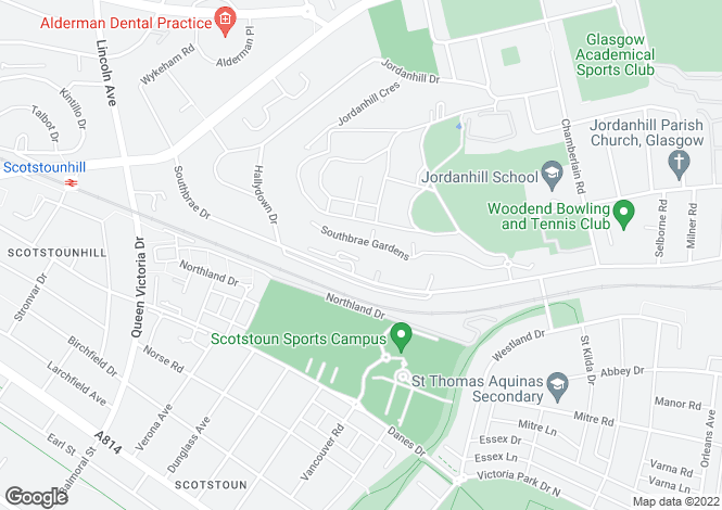 Map for 86 Southbrae Drive, Jordanhill, G13 1TZ