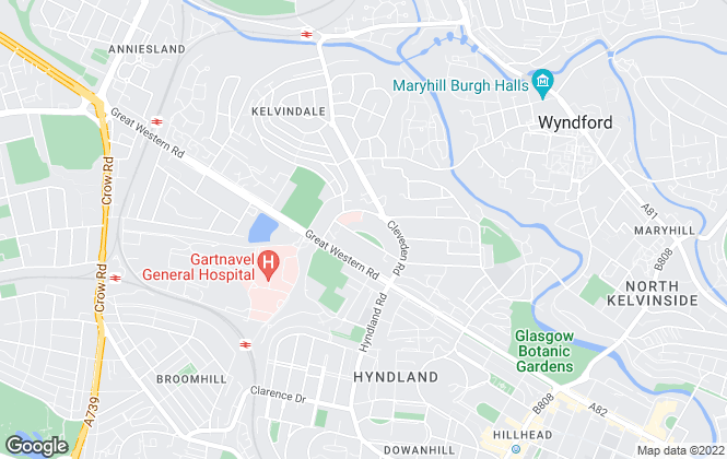 Map for Western Lettings, Glasgow