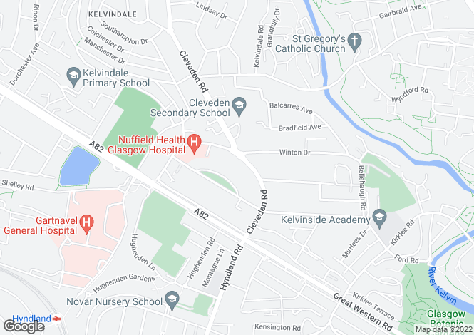 Map for The Mews, 41 Cleveden Road, Kelvinside, G12 0PH
