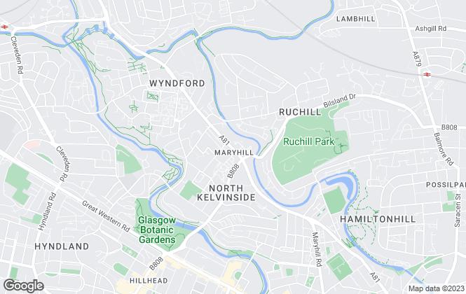 Map for  Rannoch Property, Glasgow