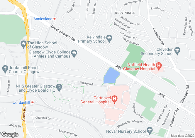 Map for Upper Conversion, Whittingehame Drive, Kelvinside, Glasgow