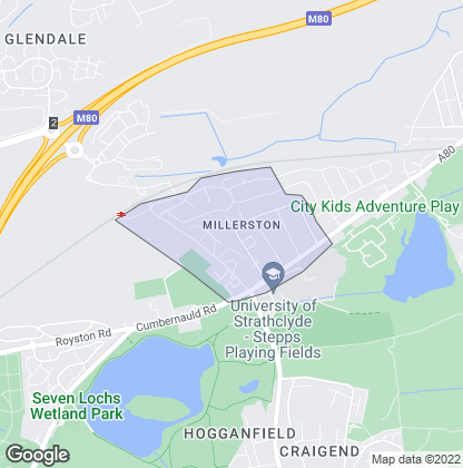 Map of property in Millerston