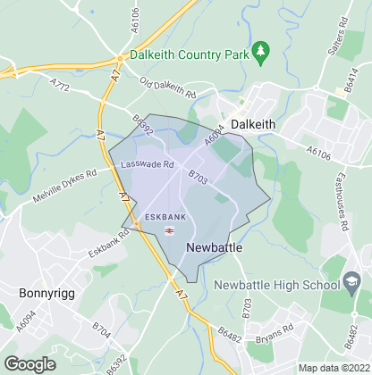 Map of property in Eskbank