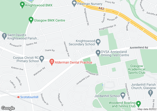 Map for Priorwood Court,Anniesland,GLASGOW,Lanarkshire,G13 1GE,Scotland