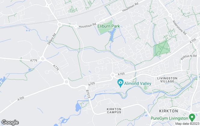 Map for Gladman Developments Ltd, Livingston