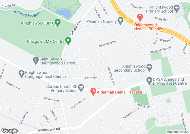 Map for Baldric Road   Knightswood