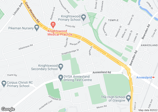 Map for 23 Craigend Circus, Anniesland, G13 2TY