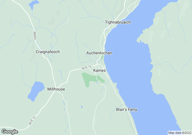 Map for Kames,