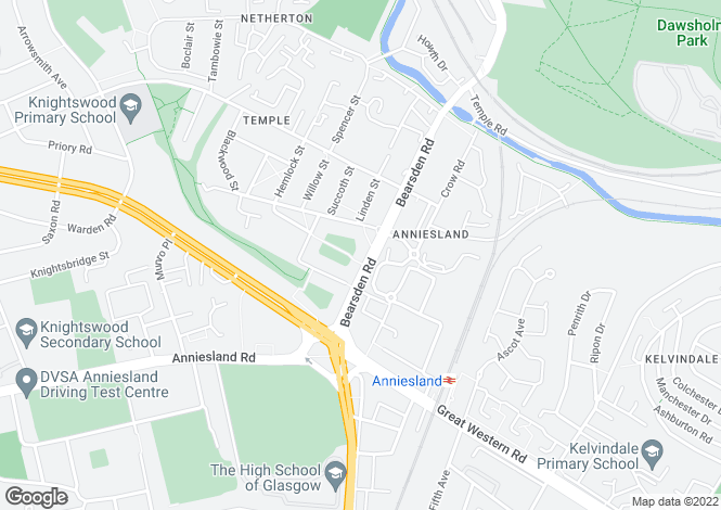 Map for Anniesland - Bearsden Road