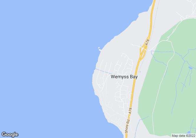 Map for Leapmoor Drive, Wemyss Bay