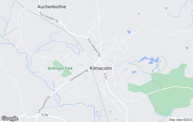 Map for Hames Estates, Kilmacolm