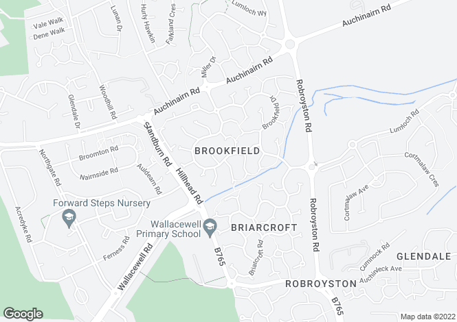 Map for 21 Brookfield Ave <br> Robroyston, Glasgow