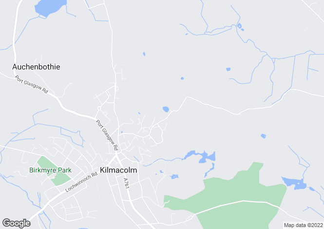 Map for The Avenue, Kilmacolm