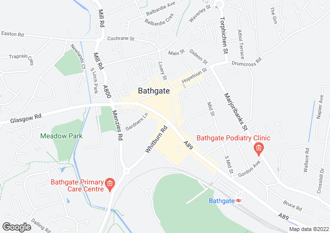 Map for South Bridge Street,