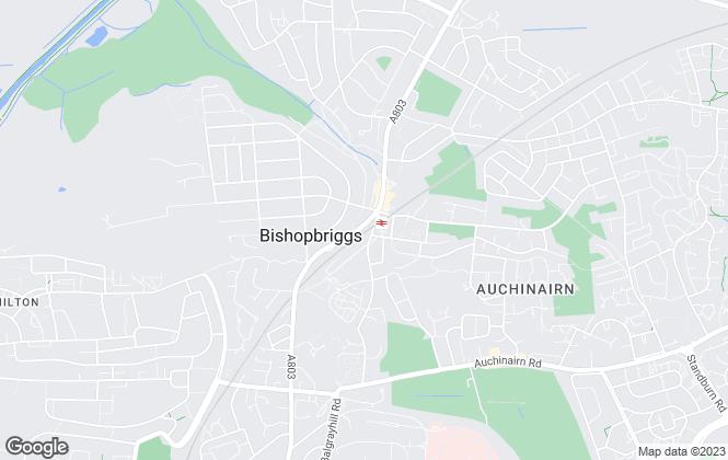 Map for Allen & Harris, Bishopbriggs Glasgow