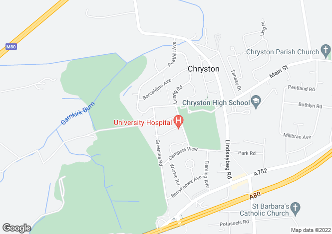 Map for Lanrig Place, Chryston, Glasgow