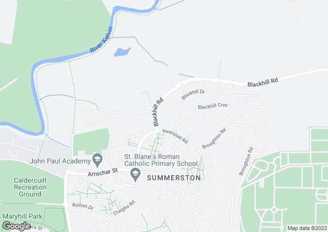 Map for 14 Blackhill Court, Summerston, G23 5NL