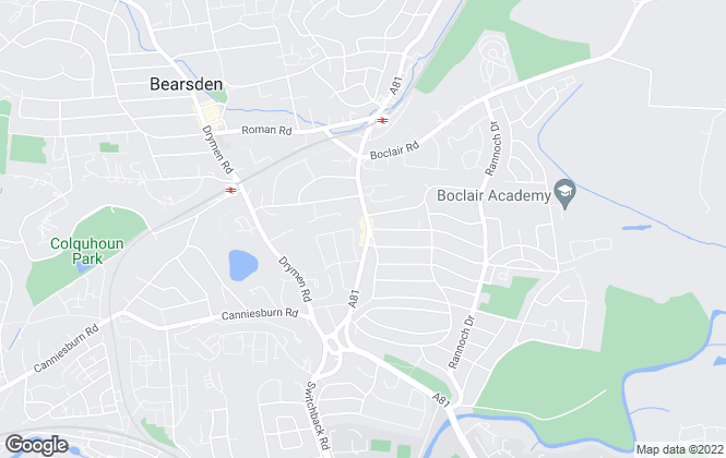 Map for Property Bureau, Bearsden
