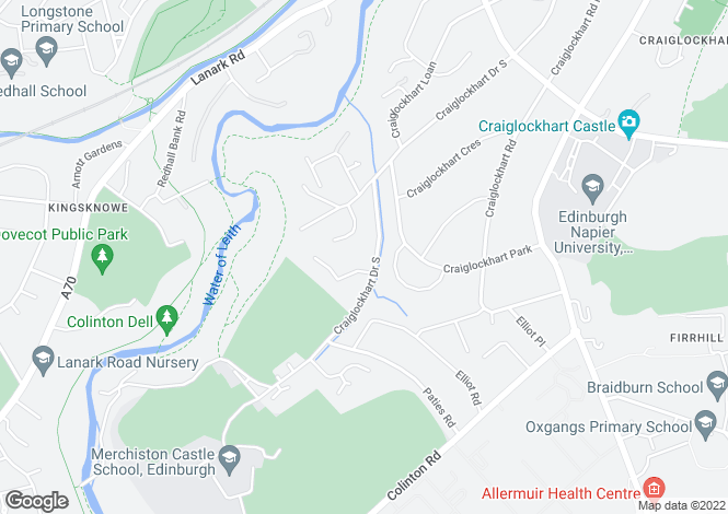Map for 86 Craiglockhart Drive South,