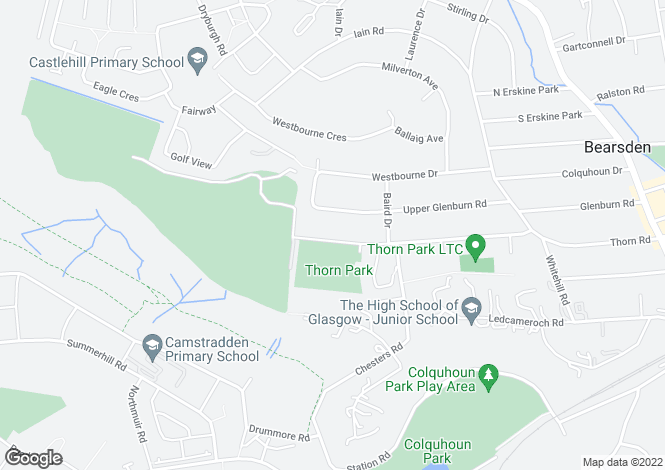 Map for Thorn Lodge, 45 Thorn Road, Bearsden, Glasgow