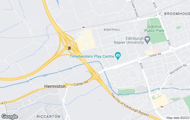 Map for Oakleaf East Scotland, Edinburgh