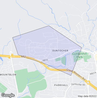 Map of property in Duntocher