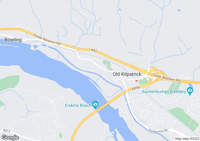 Map for Gavinburn Street, Old Kilpatrick, West Dunbartonshire