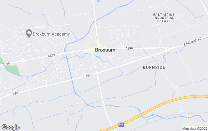 Map for Alba Property, Broxburn