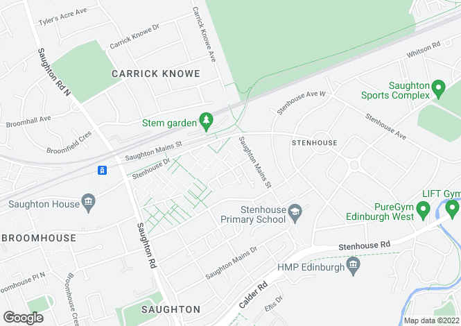 Map for Saughton Mains Terrace, Stenhouse, EH11
