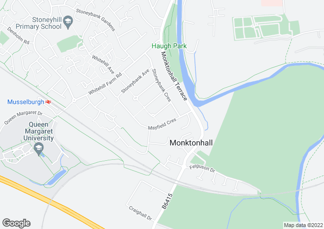 Map for Stoneybank Grove, Musselburgh EH21