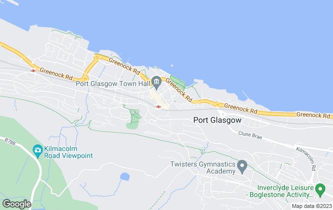 Map for Brian Harkins, Port Glasgow