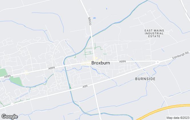 Map for KnightBain Estate Agents, Broxburn