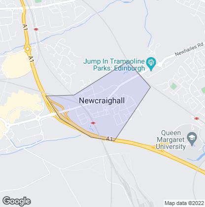 Map of property in Newcraighall