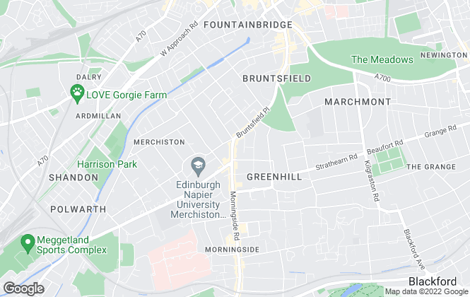 Map for ACE Property, Edinburgh