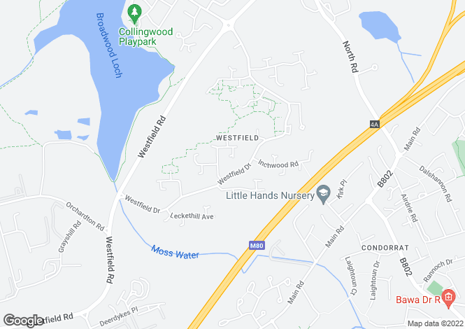 Map for Westfield <br> Cumbernauld, Lanarkshire