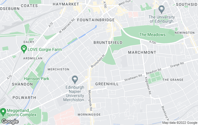 Map for andersonbain, Edinburgh