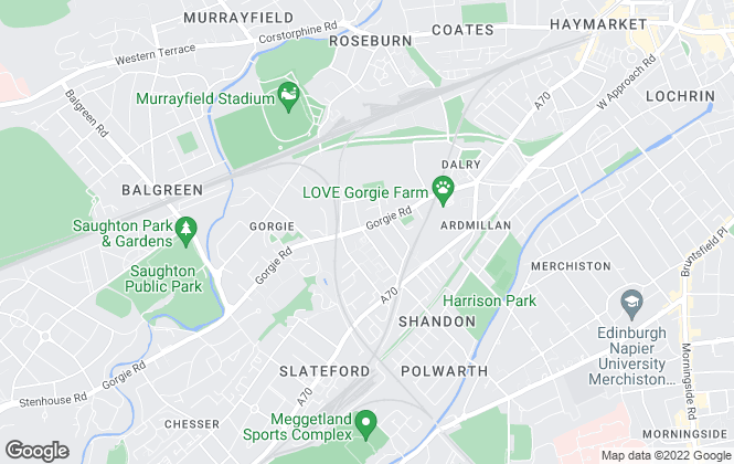 Map for YOUR MOVE, Gorgie Road