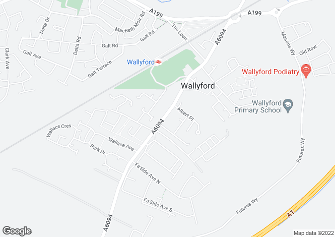 Map for 99 Salters Road, Wallyford, Musselburgh, East Lothian EH21 8AF