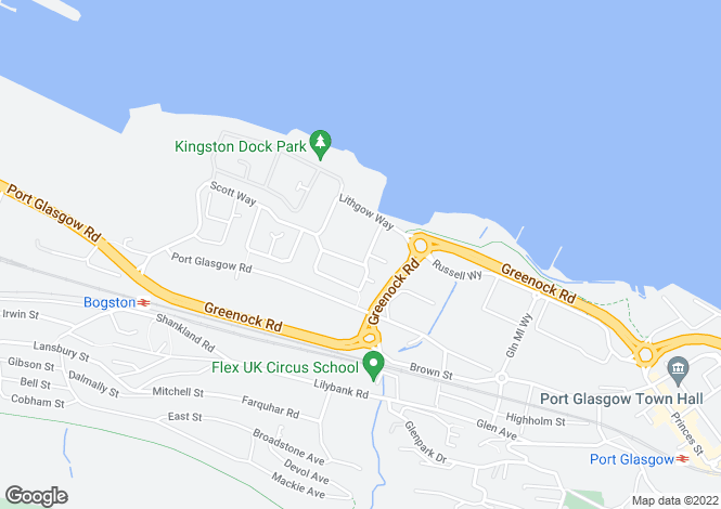 Map for Kingston Crescent, Port Glasgow